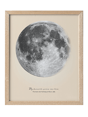 Positive Prints - Custom Moon Art Poster