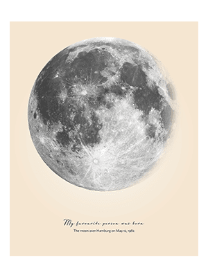 Positive Prints - Custom Moon Phase Poster