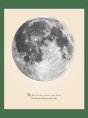 Positive Prints - Custom Moon Poster
