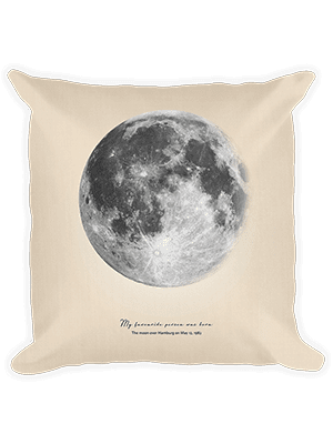 Positive Prints - Custom Moon in A Pillow