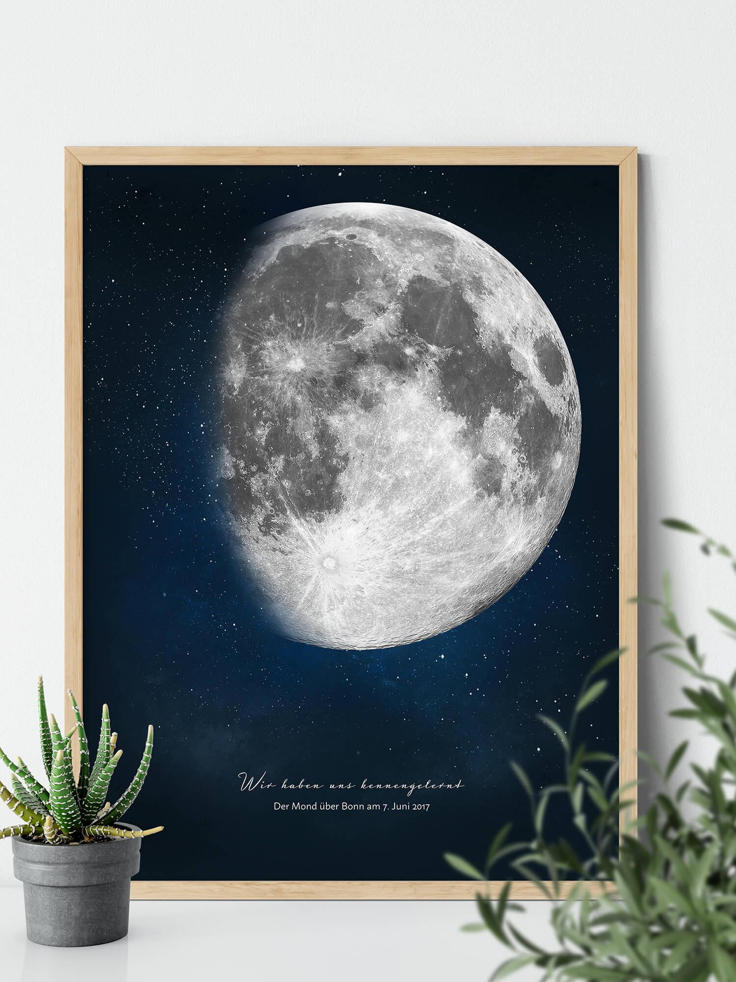 Positiveprints.com Personalisiertes Mondposter Wir haben uns kennengelernt