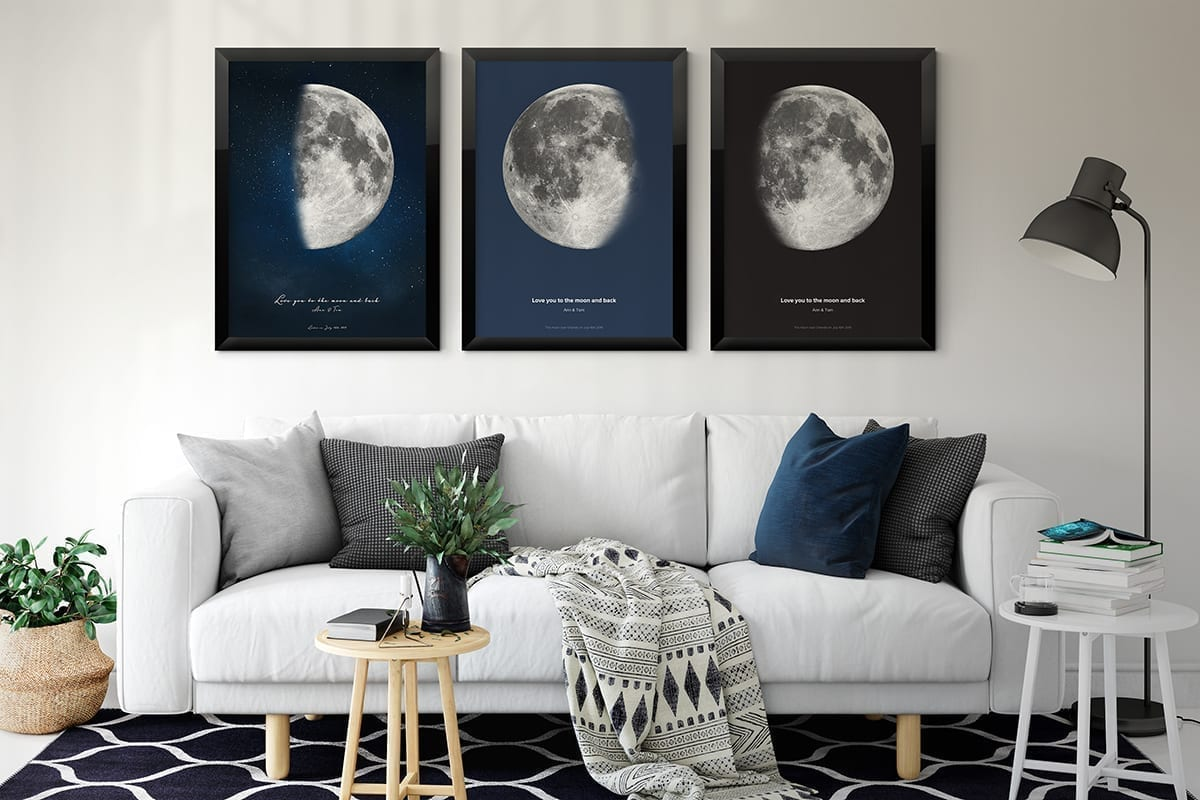 Custom Moon Phase Poster Design Now With Online Interactive Tool