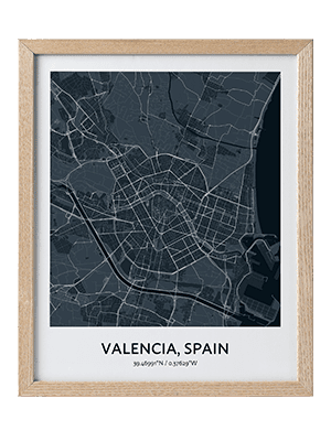 With Custom Map Art Creator you can get Any Place in the World Beautiful Printed Custom Map Poster