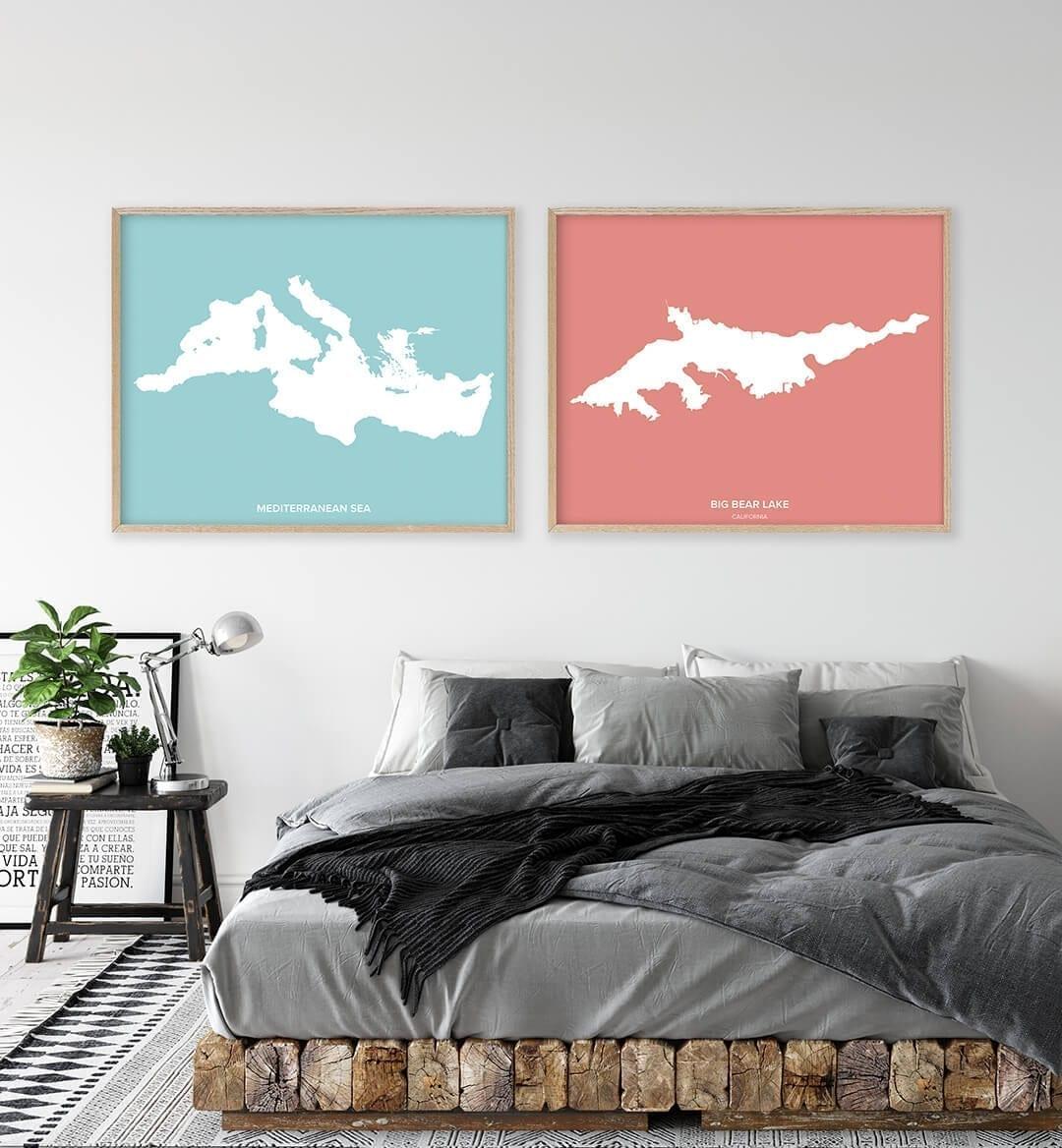 Big Bear Lake Custom Art Wall Poster