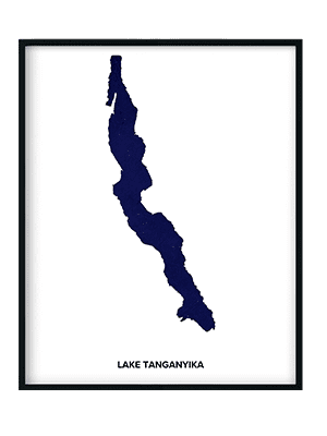 Custom Lake Art Print Lake Tanganyika