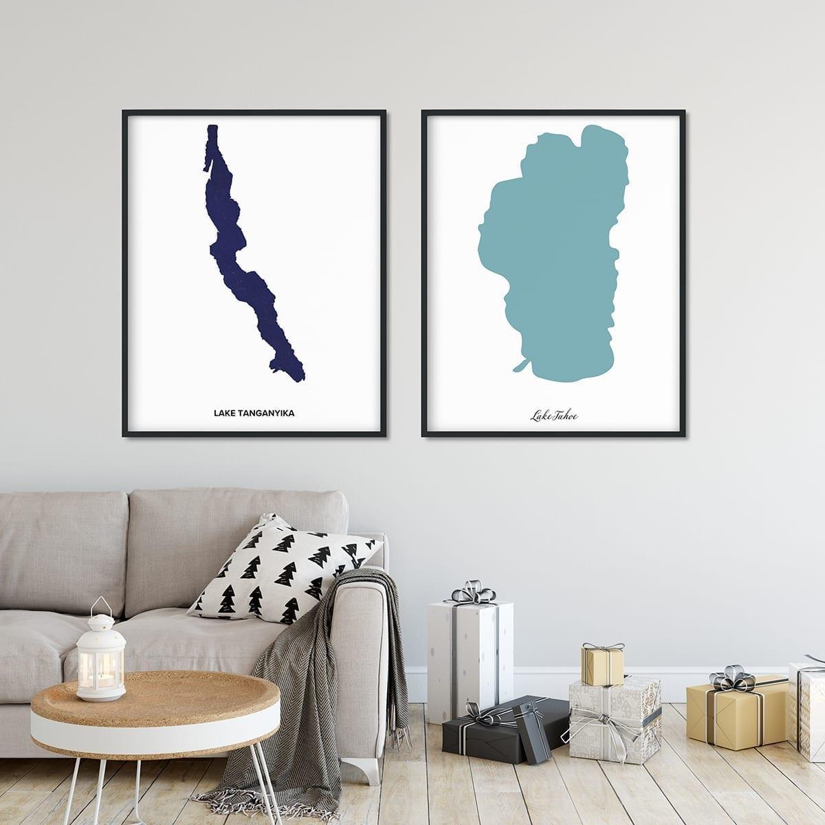 Affiche du Lac Tahoe personnalisée
