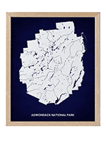 National Parks Map Adirondacks Park