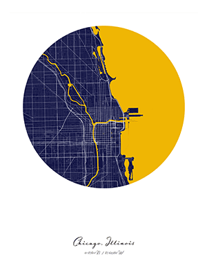 Positiveprints.com CITY MAP ART OF CHICAGO