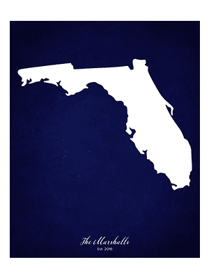 FLORIDA CUSTOM STATE ART WALL