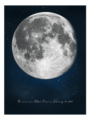 Positiveprints.com MOON ON THE DATE WE FIRST KISSED