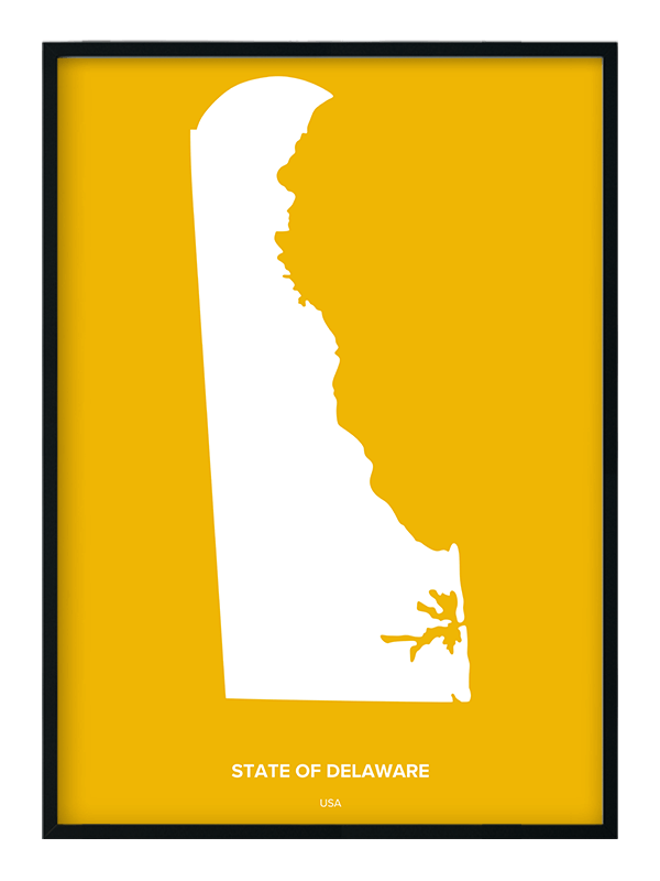 State of Delaware Custom Print | Positive Prints