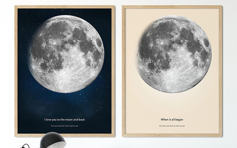 Te regalo la luna - cuadros y para un amante de la luna.