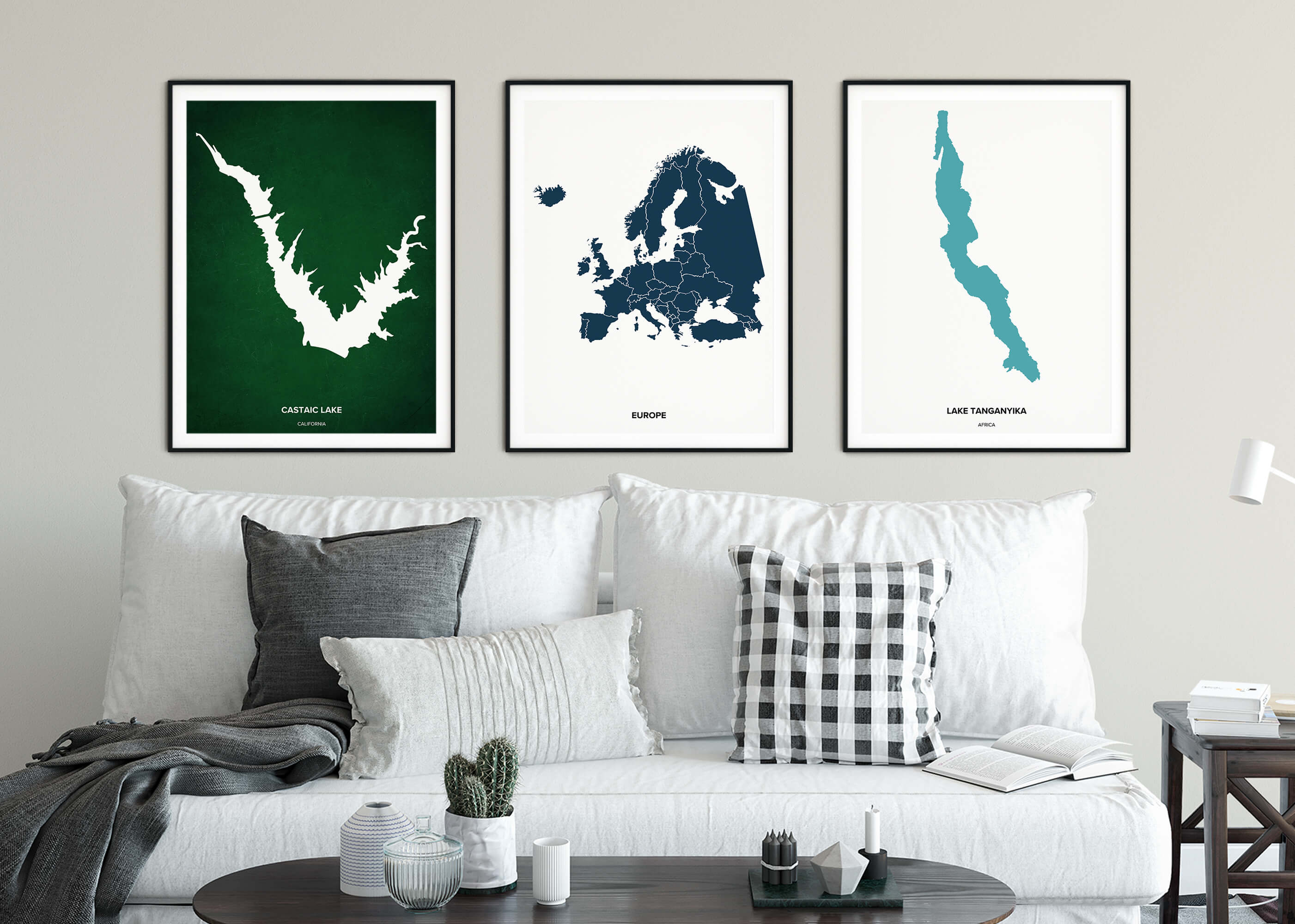 Positive Prints Custom Lakes Posters