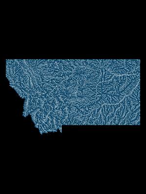 Montana ríos _póster_positive prints