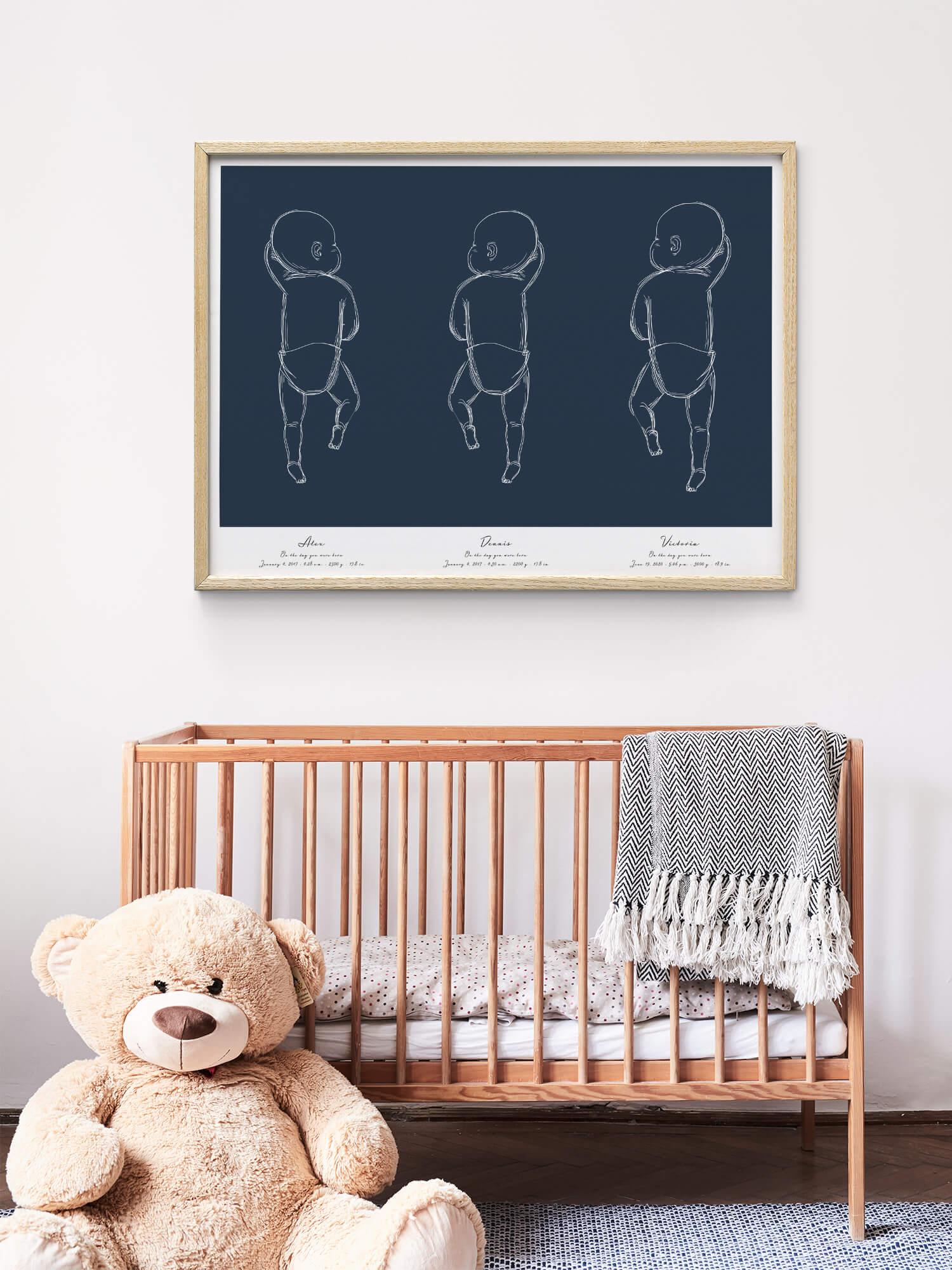 Lámina Nacimiento para Trillizos