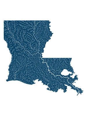 Louisiana rivers poster_positive prints