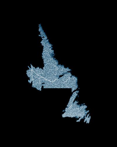 Newfoundland_and_labrador_rivers_watersheds_positive prints