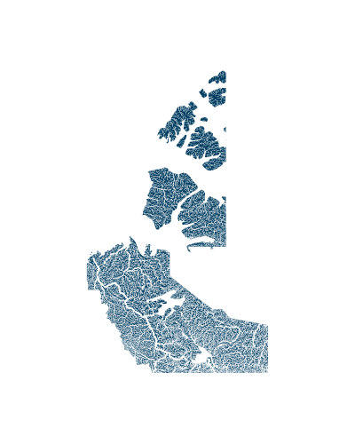 northwest_territories_rivers_watersheds_positive prints