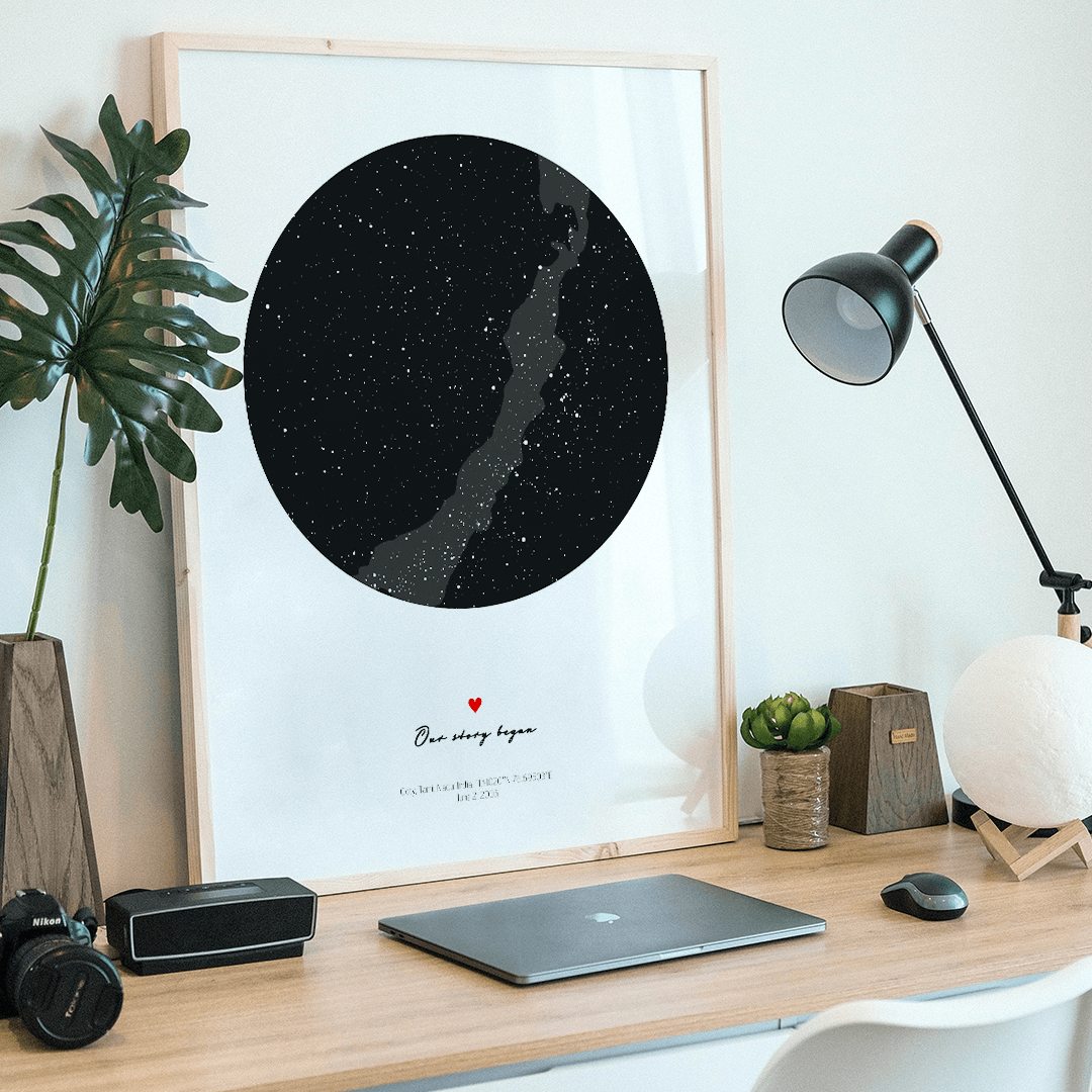 Positve Prints custom star map art