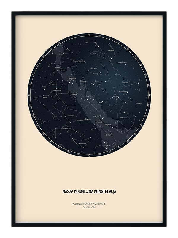 personalizowana mapa gwiazd