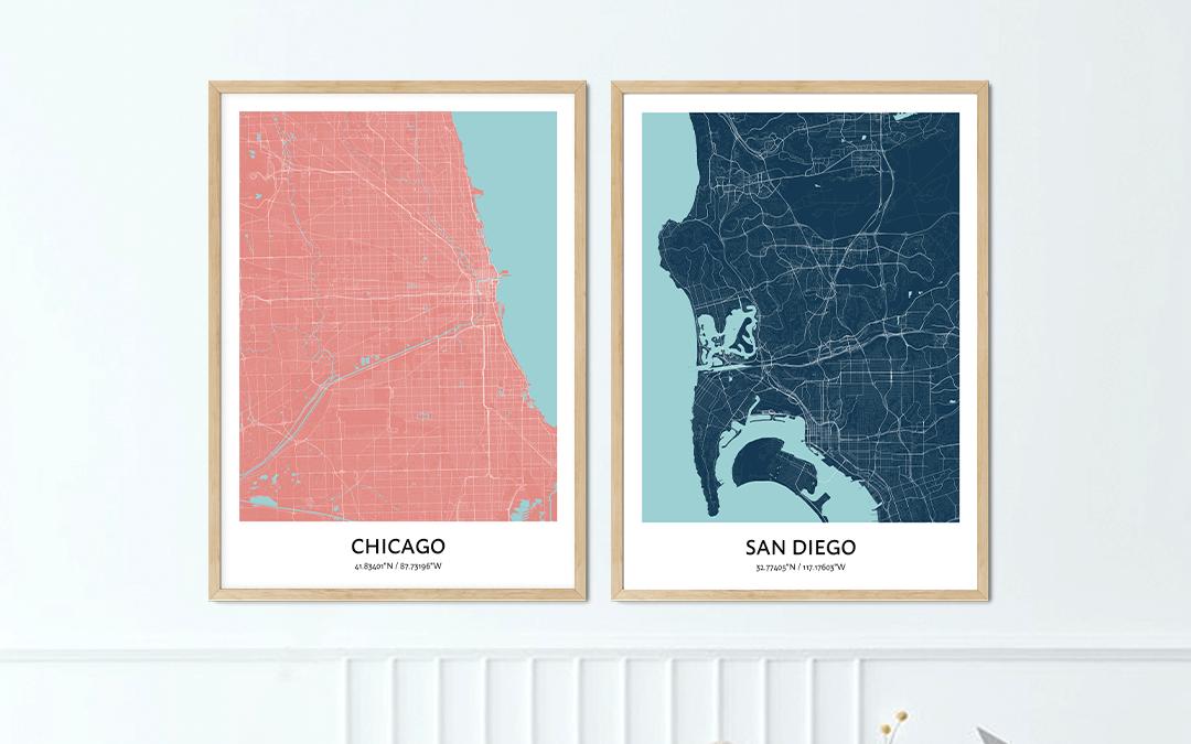 arte mappa personalizzata