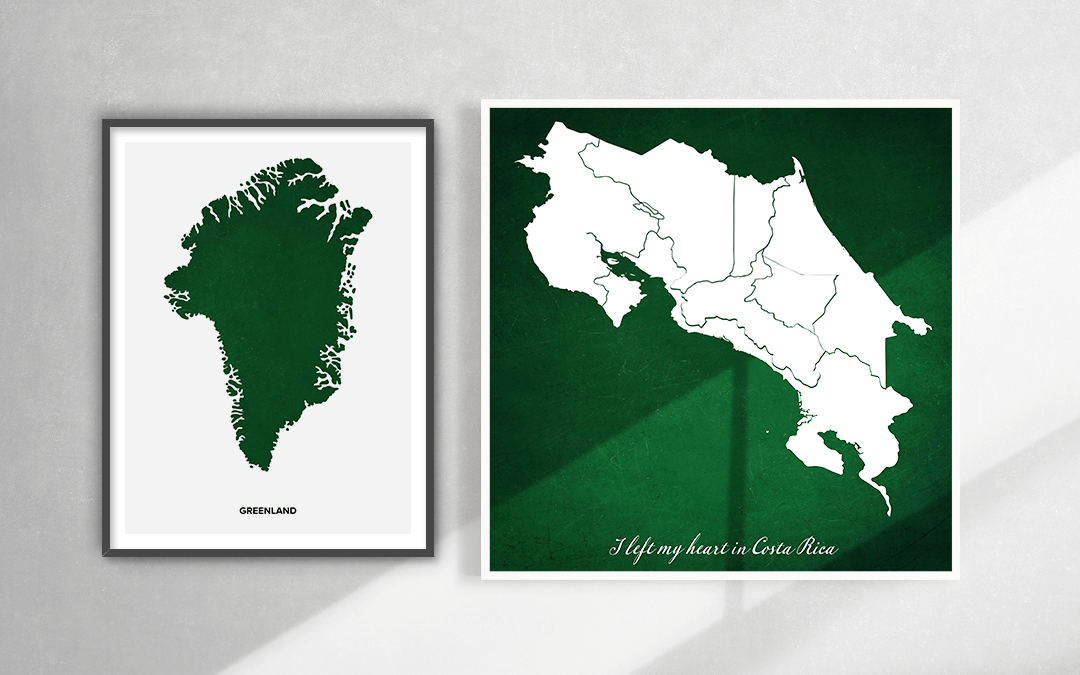 Artistic Maps as a wall art
