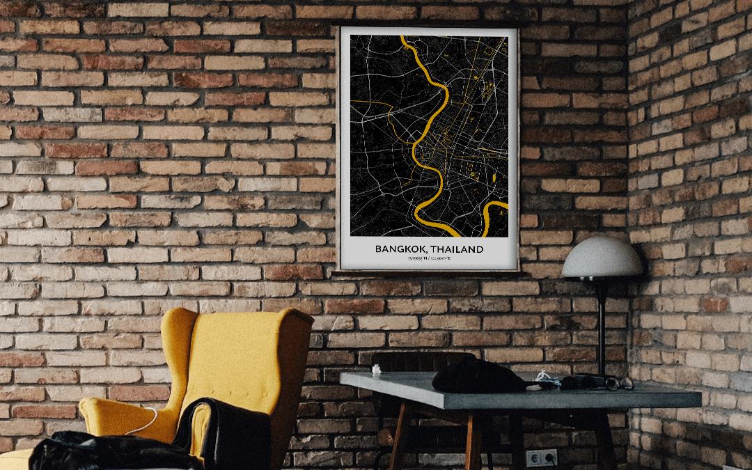 City Map Wall Art od Bangkok