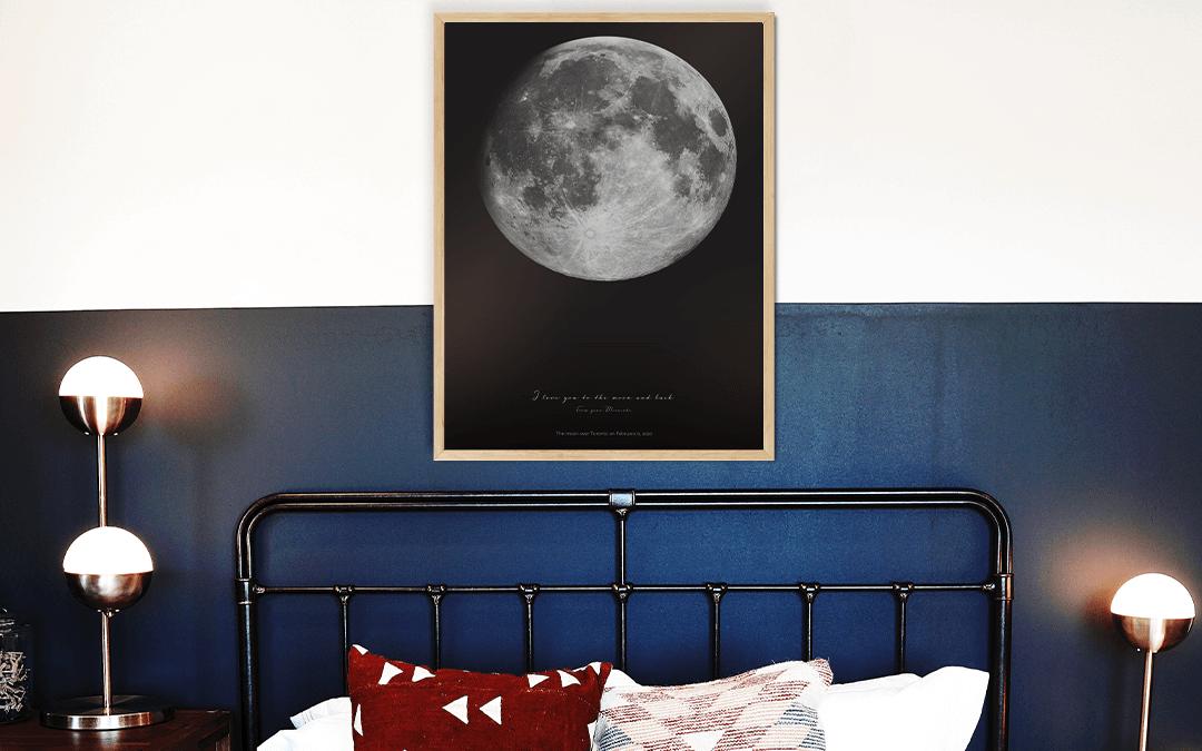 Personalizowana Mapa Księżyca w prezencie dla niej