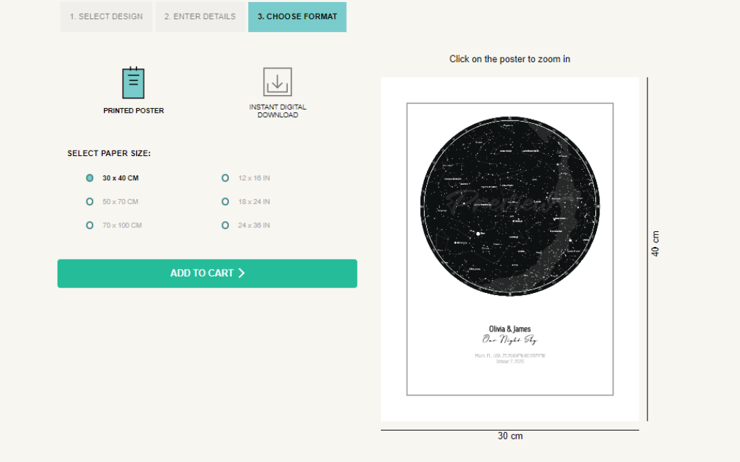 Erstellen Sie ein digitales oder gedrucktes Sternenkarten-Poster