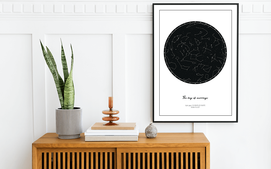 Create your own star map and hang it on the wall