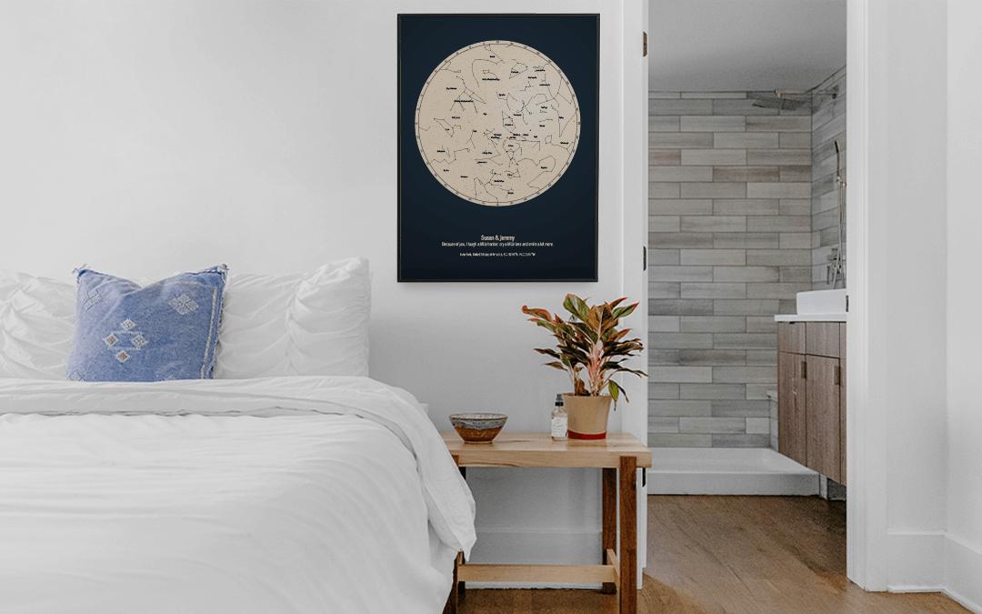 Erstellen Sie Ihre eigene Sternenkarte und erhalten Sie originelle Dekoration