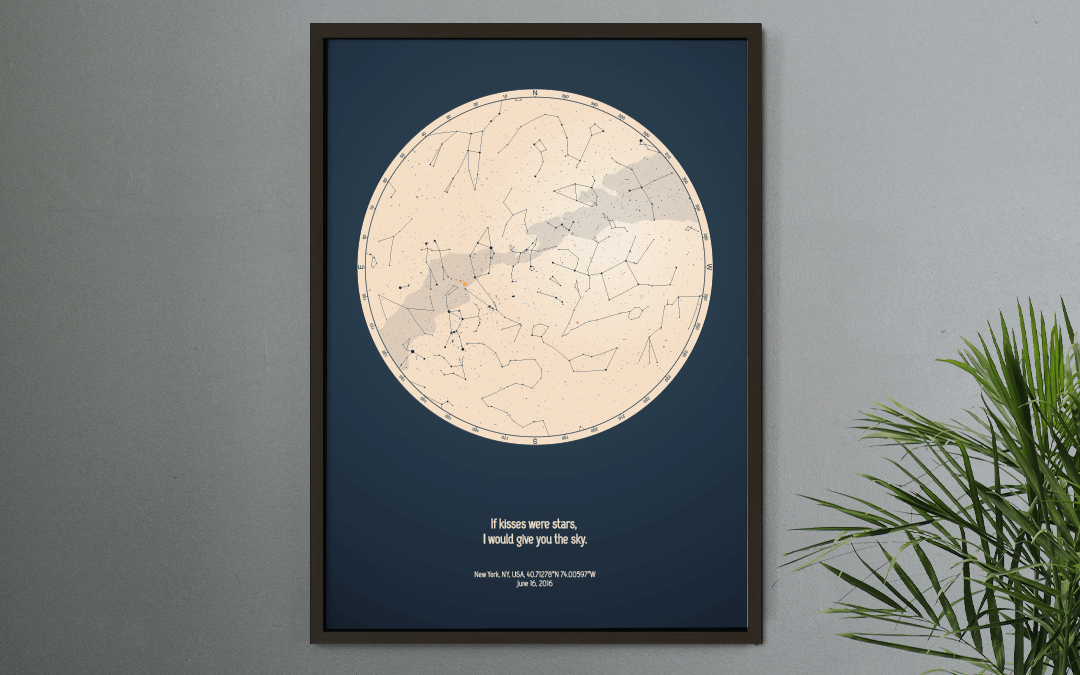 Personalized Star Map with a quote