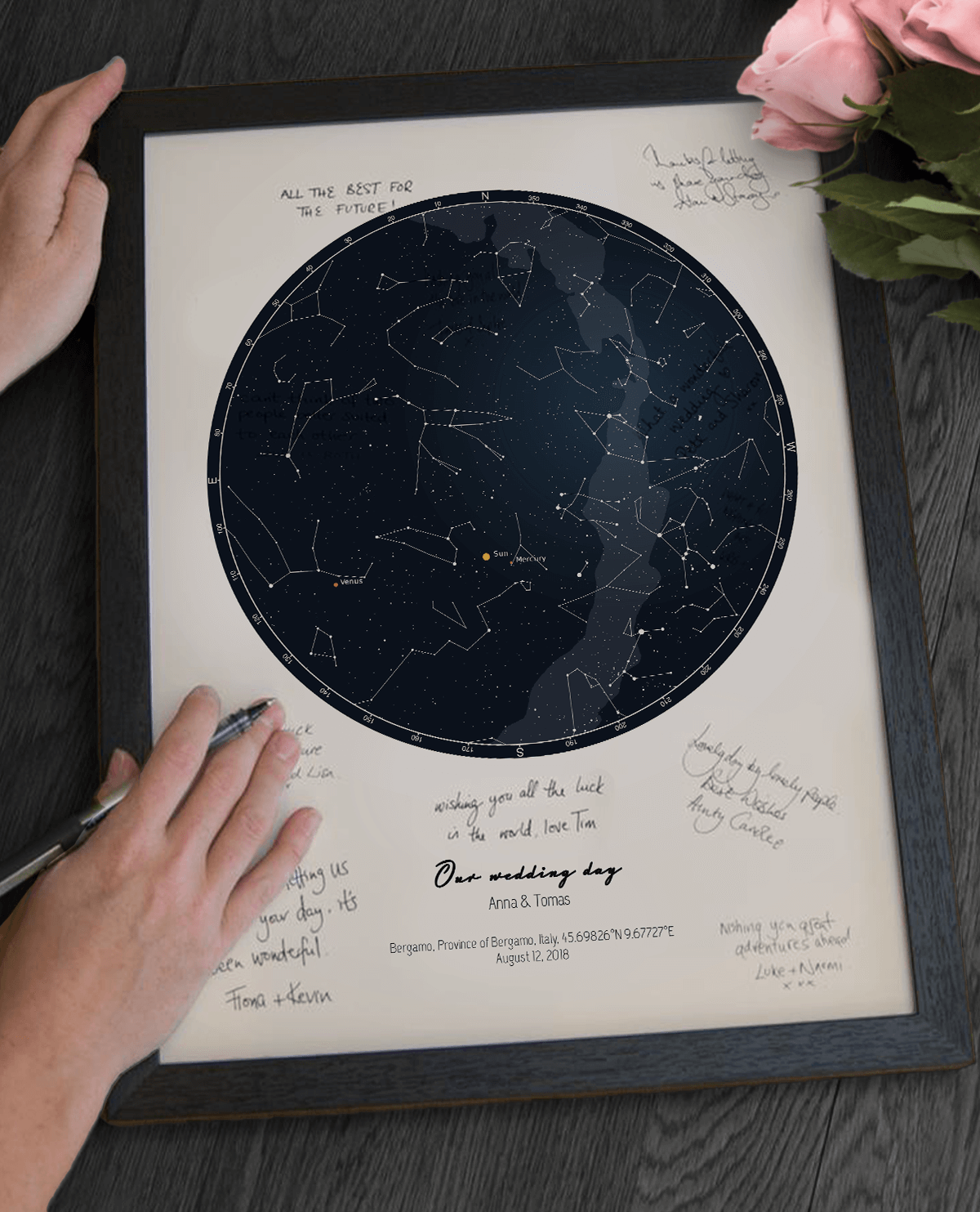 Star Map Guest Book