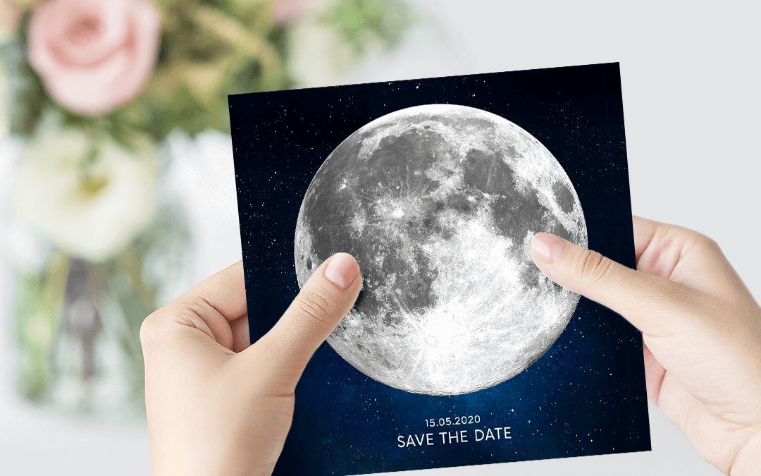 Wedding Invitation with a Personalized Moon Phase
