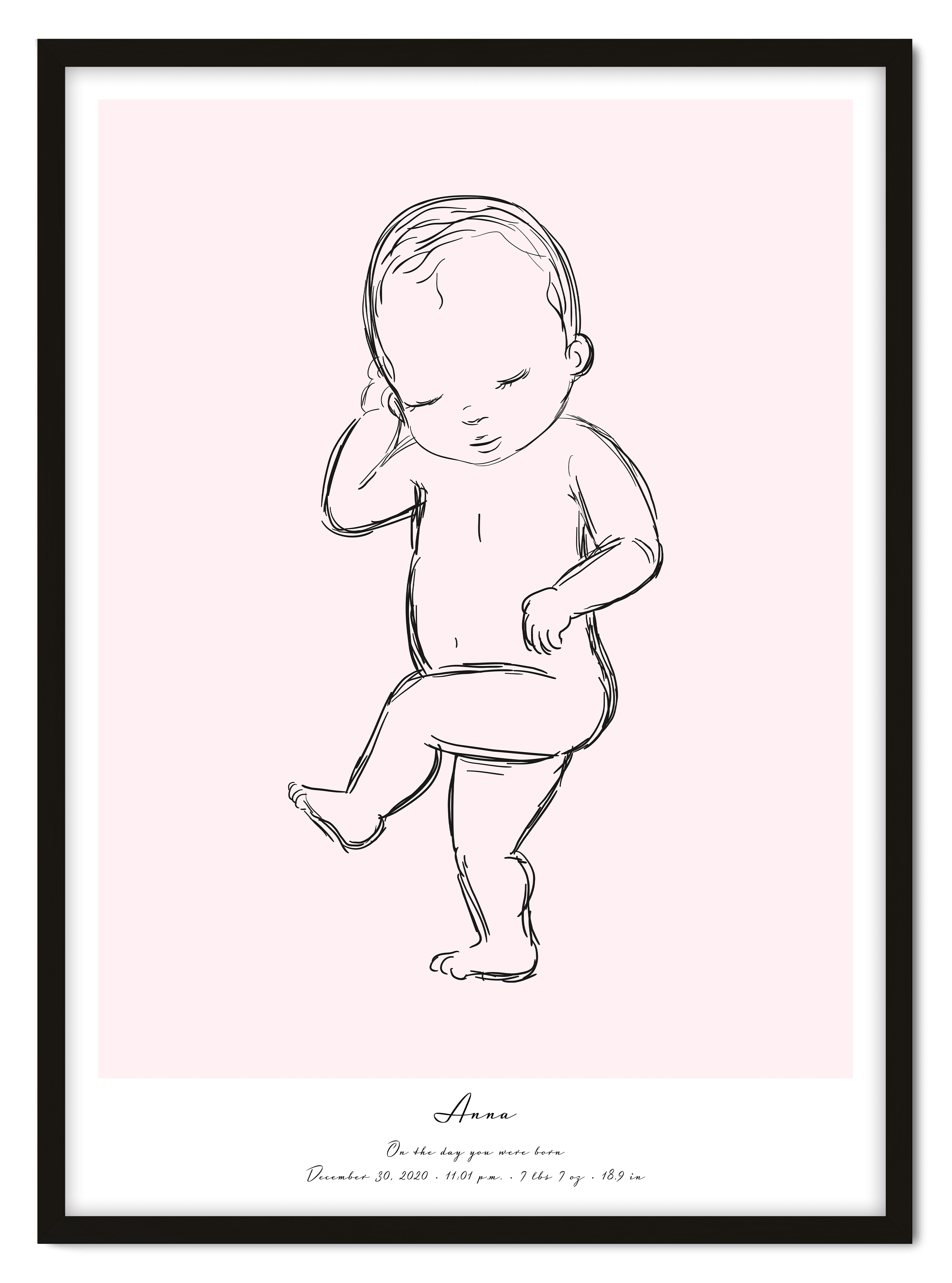Baby Sketch - Positive Prints