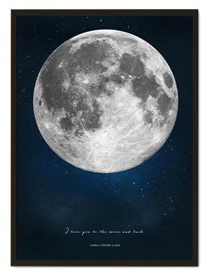 Custom Moon Poster