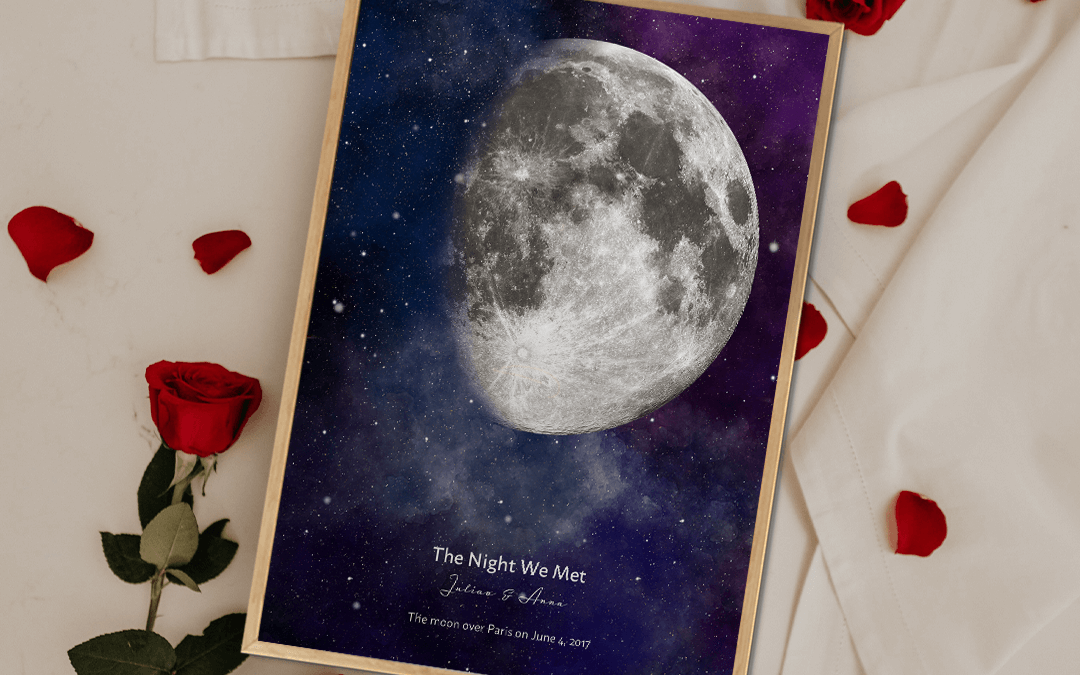 Valentine's Day Personalized Moon Gift