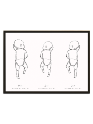 triplets birth poster