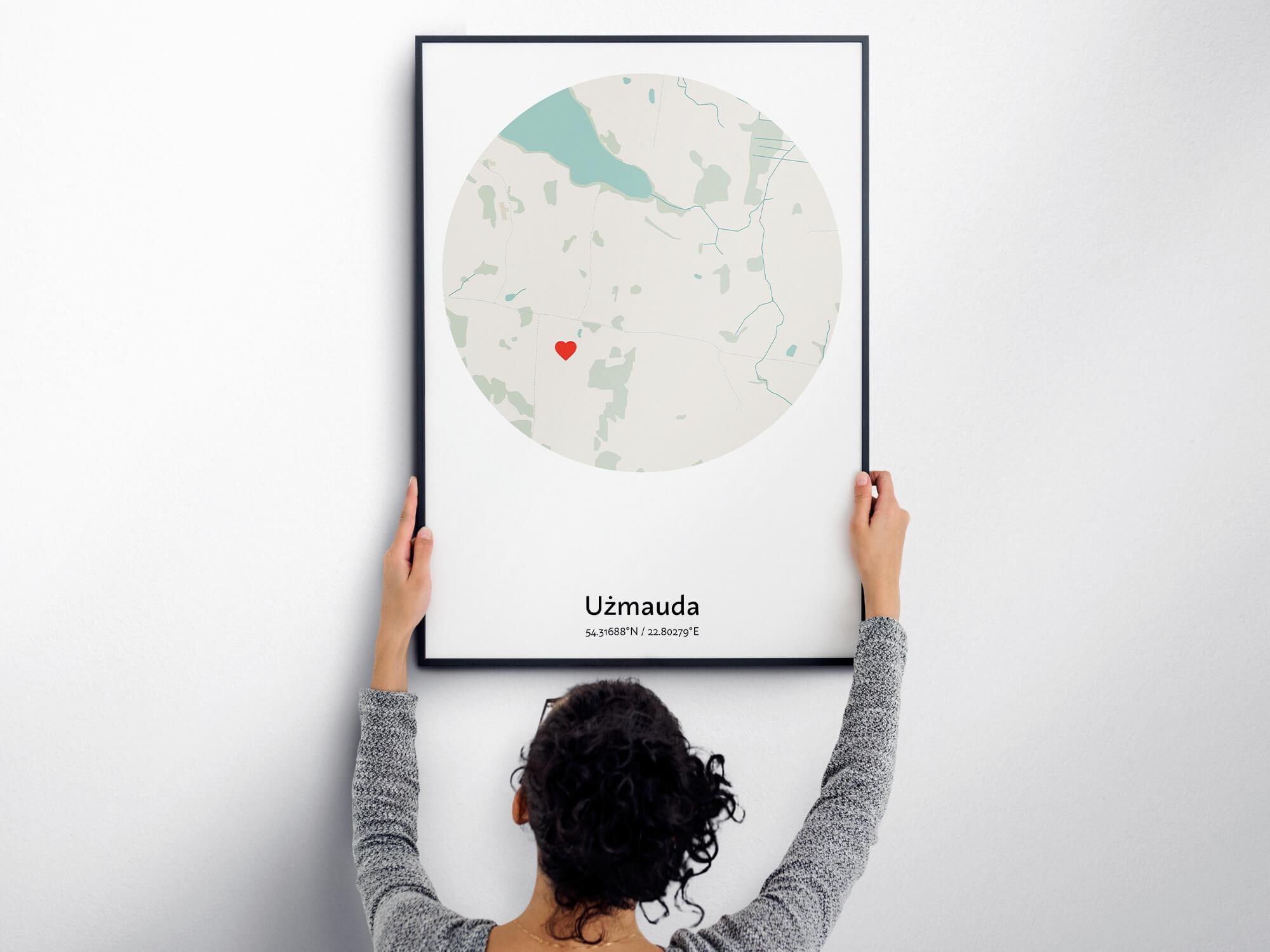 Mapa plakat z najtrudniejszymi nazwami miast w Polsce