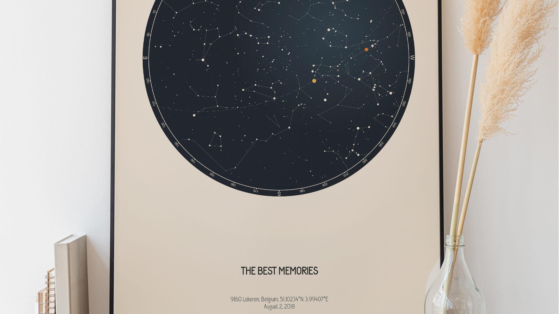 Frases románticas para mapa estelar