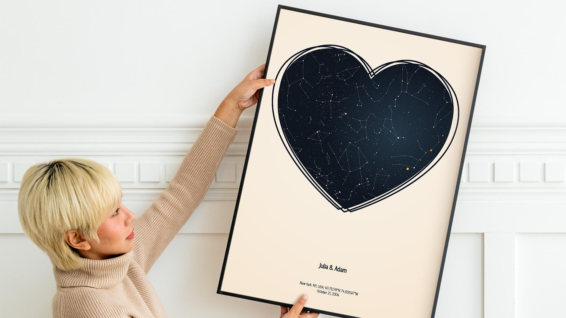 star map valentines day