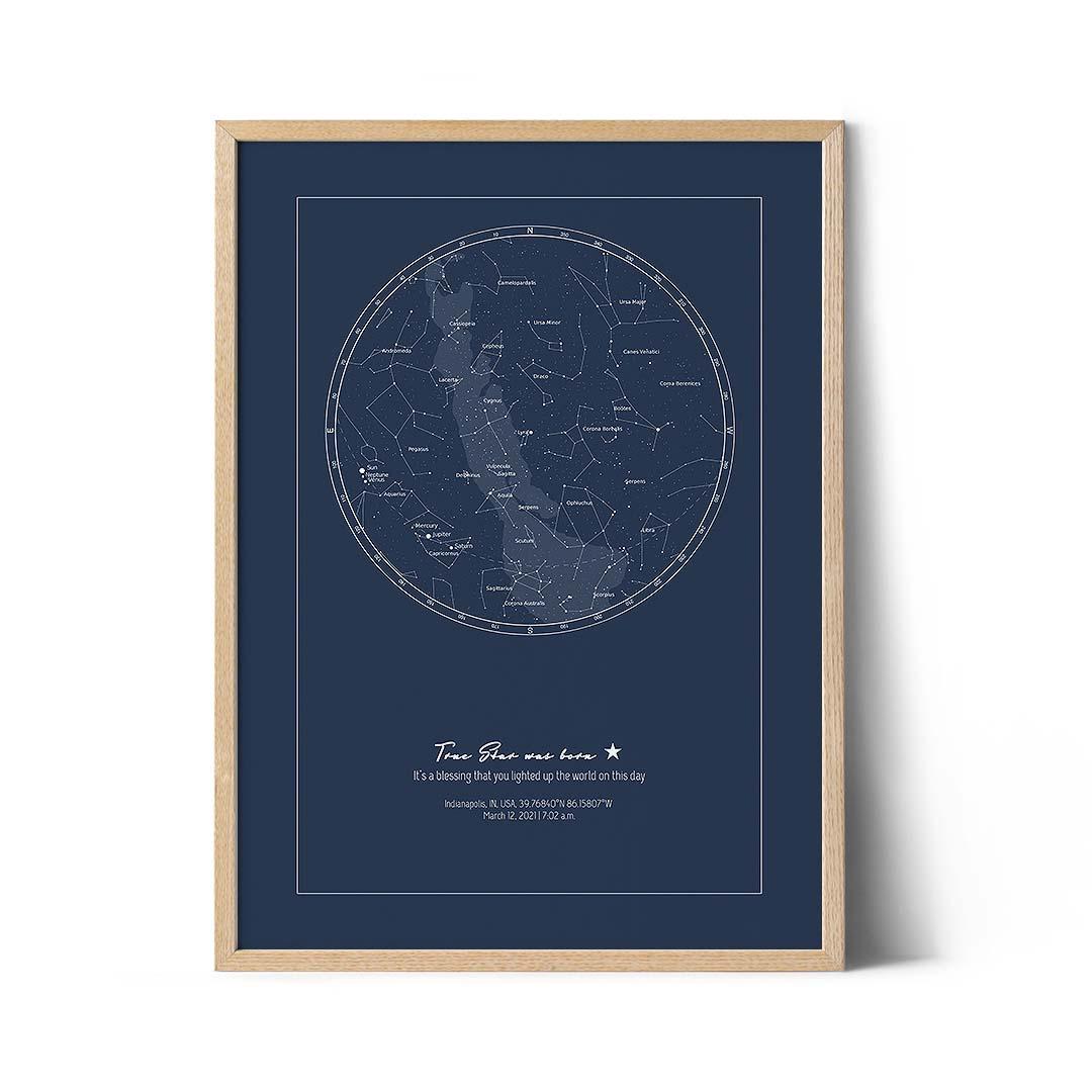 mapa nieba w dniu urodzin