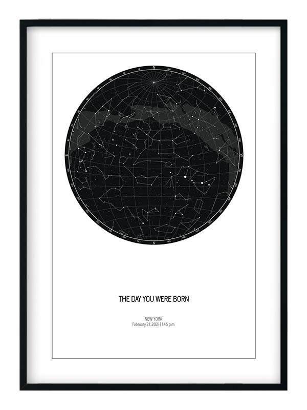 day you were born star map