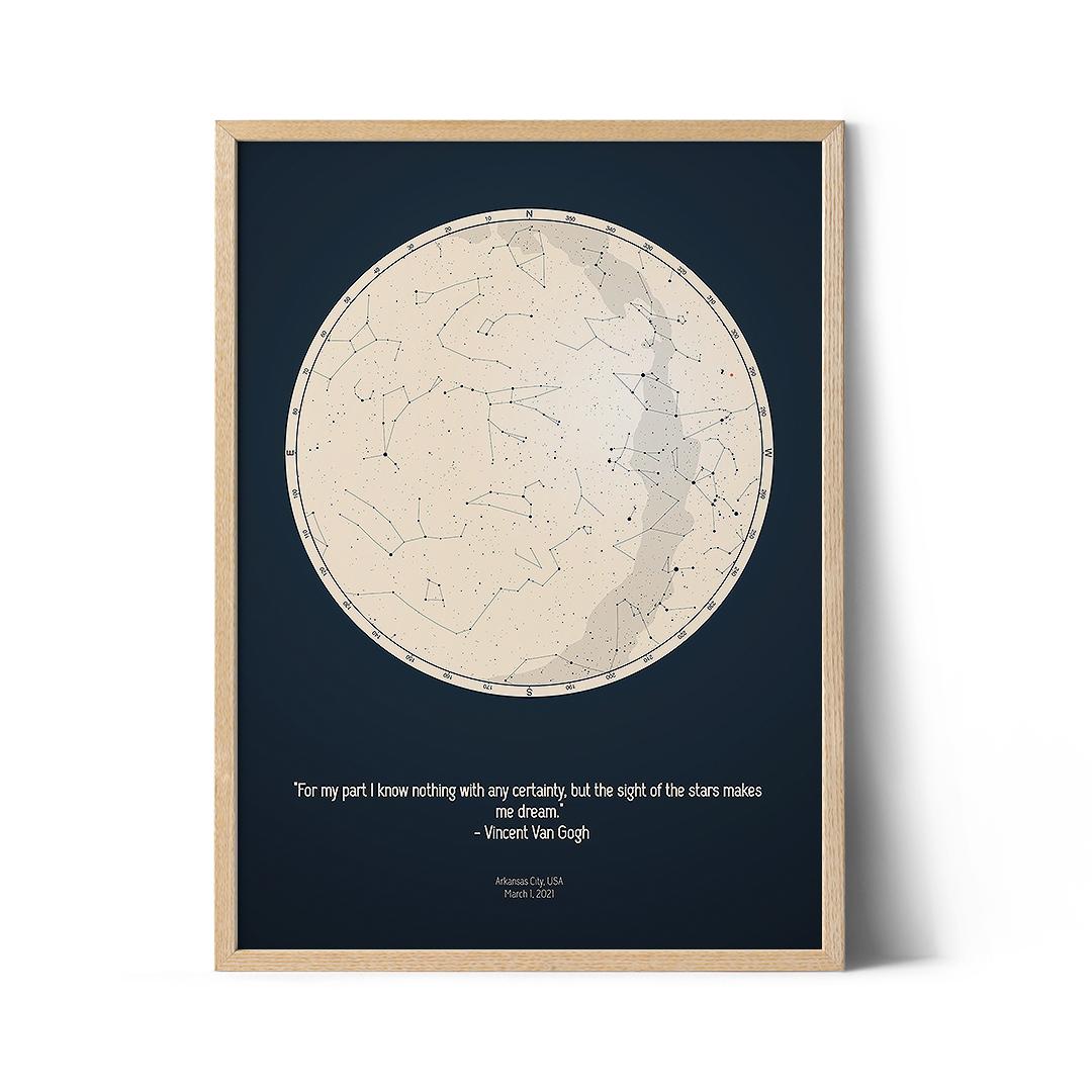 star chart poster