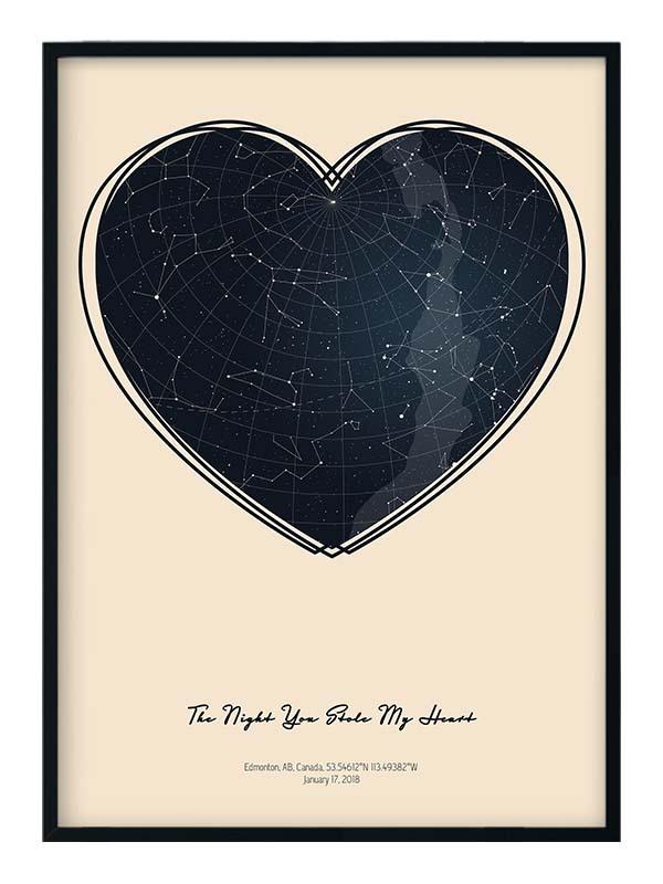star map anniversary Positive Prints