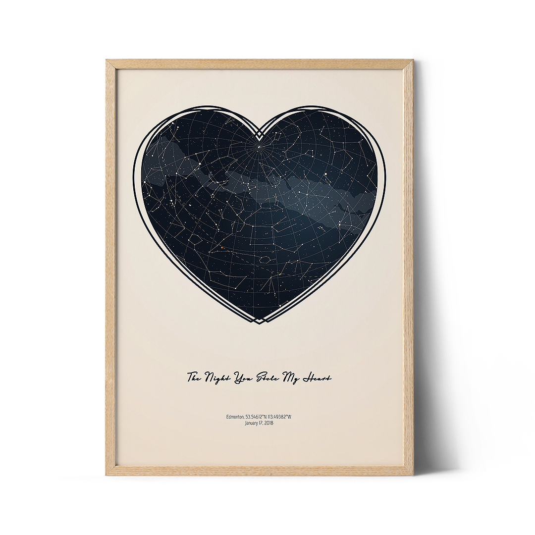Stars the night we met - Personalized star map poster.