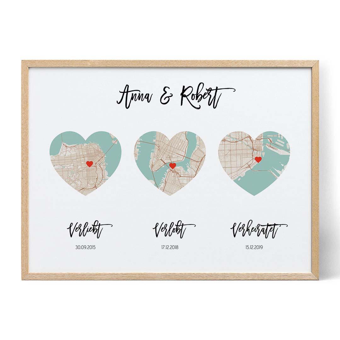 verliebt verlobt verheiratet karte