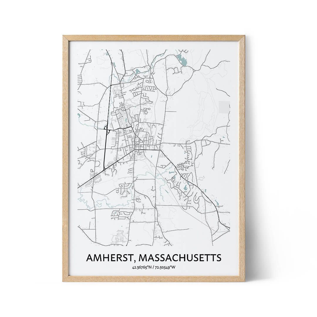 Amherst city map poster