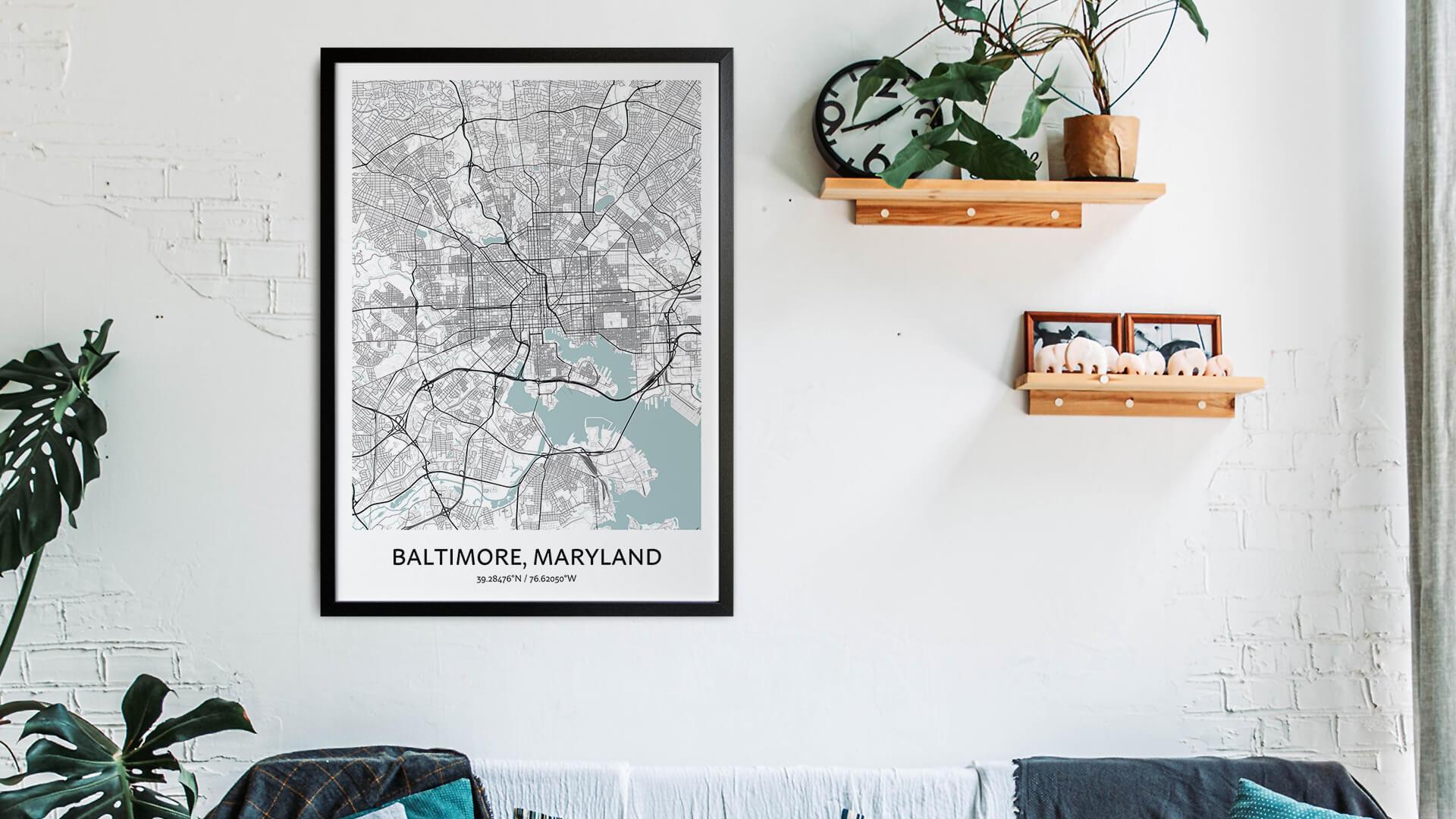 Baltimore map art