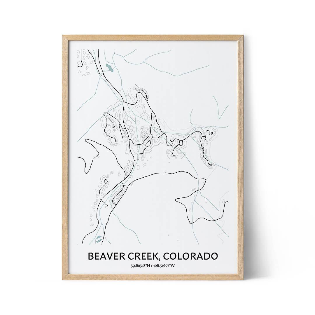 Beaver Creek city map poster